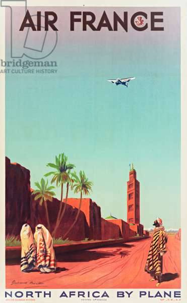 Air France Poster, flights to North Africa