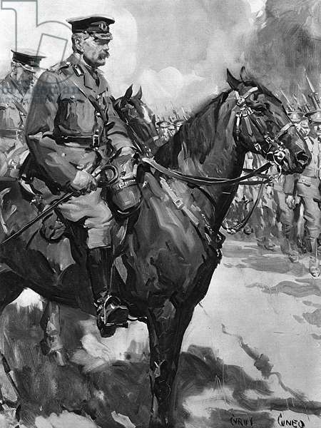 Lord Kitchener inspecting the army