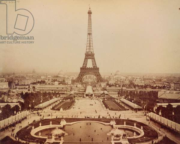 Eiffel Tower and Champ de Mars seen from Trocadero Palace, P
