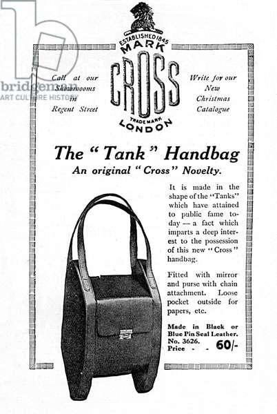 Tank handbag advertisement, WW1