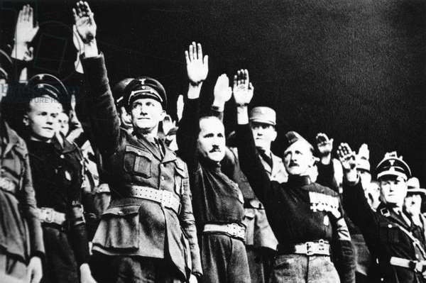 British Union of Fascist members at the Nuremberg Rally