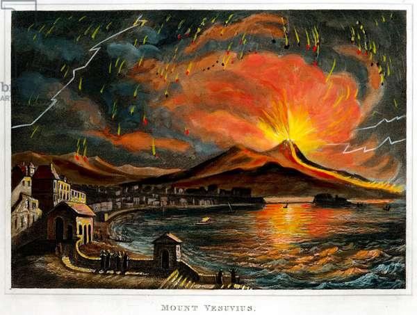 Mount Vesuvius volcano 1767 Eruption