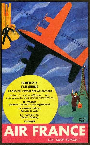 ADVERT/AIR FRANCE 1950S