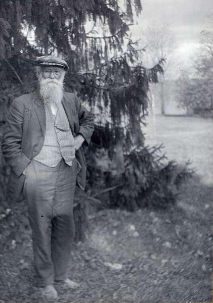 John Burroughs, author and naturalist, full-length portrait,