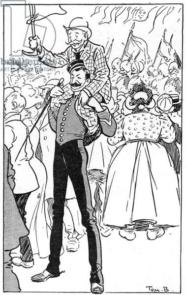 1902 Coronation - In the Crowd, a friend in need