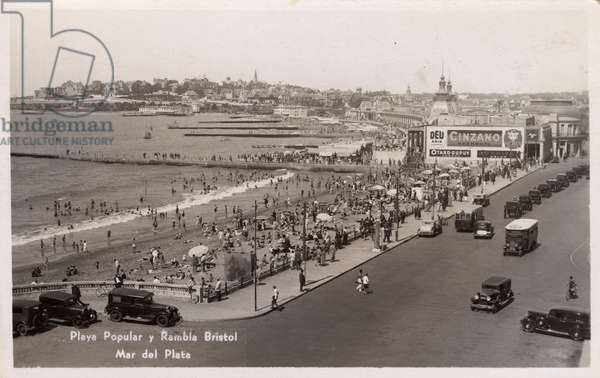 Mar del Plata - Argentina - Popular Beach & Bristol Avenue