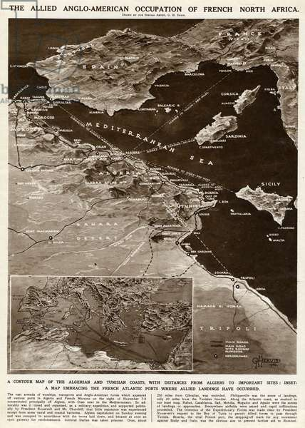 Allied occupation of French North Africa by G. H. Davis