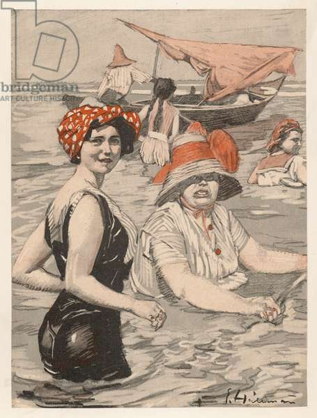 BATHING LADY AND WOMAN