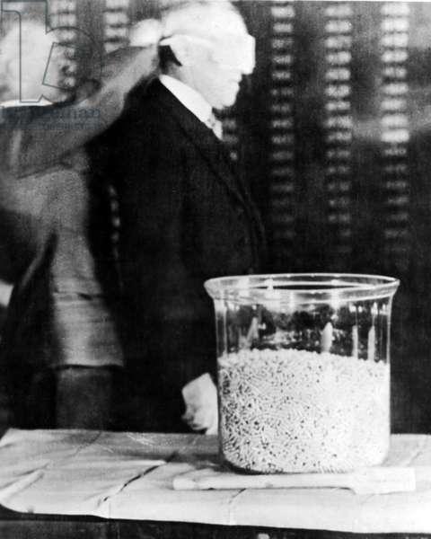 President Woodrow Wilson draft selection, USA