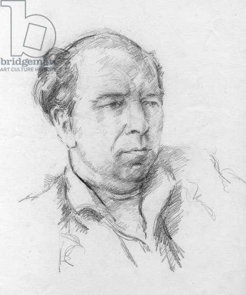 Portrait of the artist, David Wright