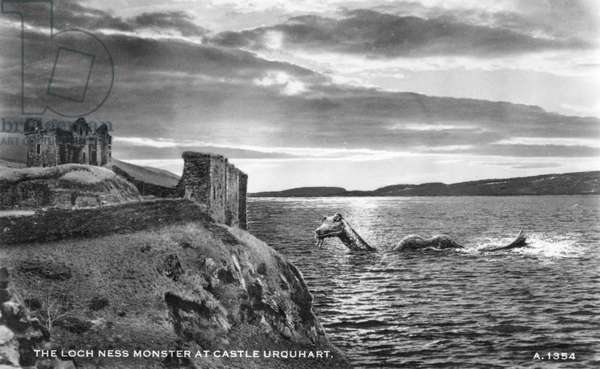 The Loch Ness Monster at Castle Urquhart