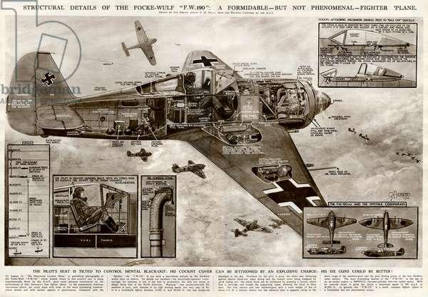 German Focke-Wulf fighter plane by G. H. Davis