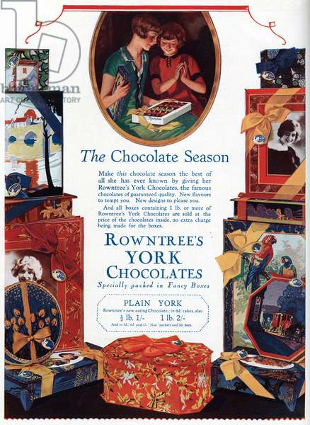Advert for Rowntree\'s Chocolate