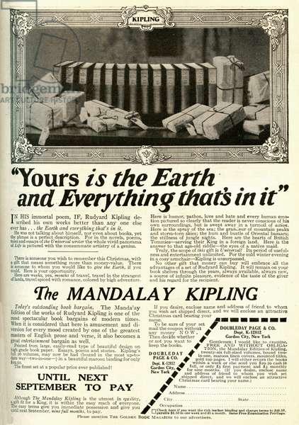 Advert for the Mandalay Edition of Rudyard Kiplings works
