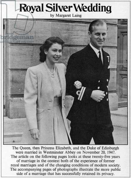 Royal silver wedding anniversary