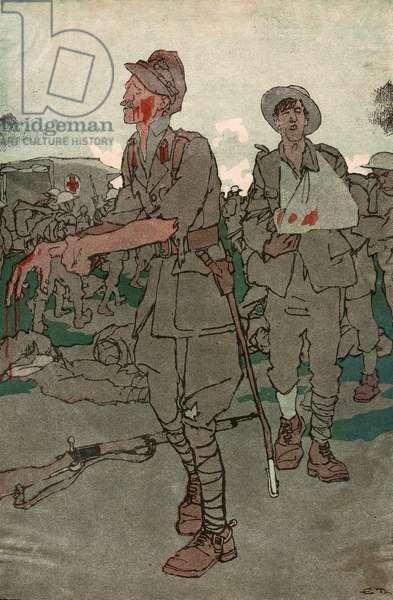 TAKING GROUND, 1916