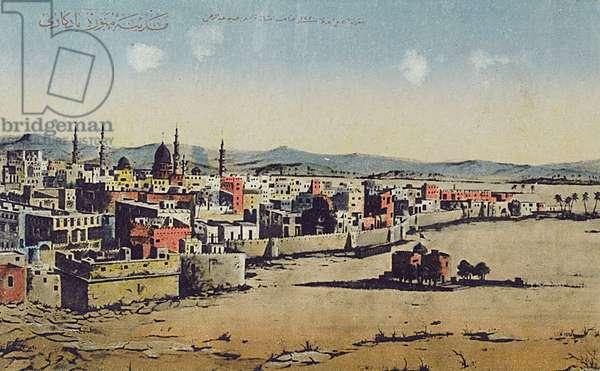 Medina, Saudi Arabia, featuring the old city walls