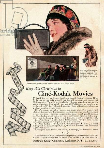Advert for Kodak movies