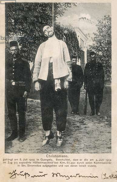 The Execution of Christomano, Macedonian Anarchist