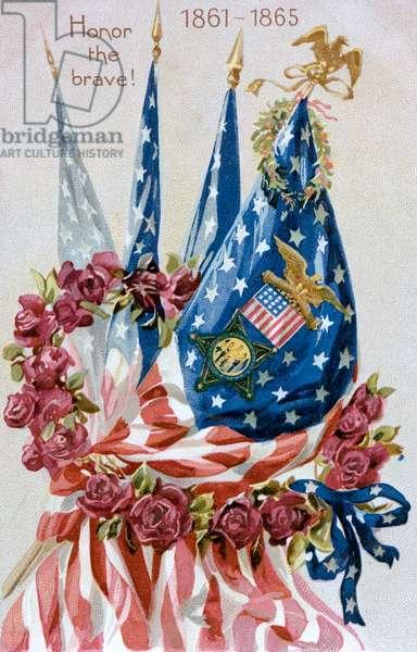 Honor the Brave! American Civil war memorial card