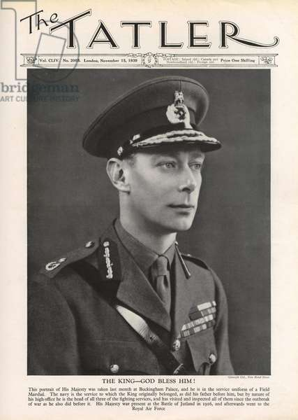 Tatler front cover 1939, King George VI