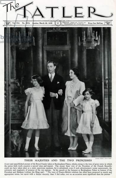 George VI & Queen Elizabeth with daughters