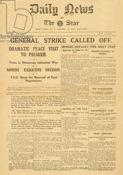 Emergency Edition, General Strike ends