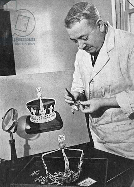 Garrard's making the Queen's Coronation crown, 1937