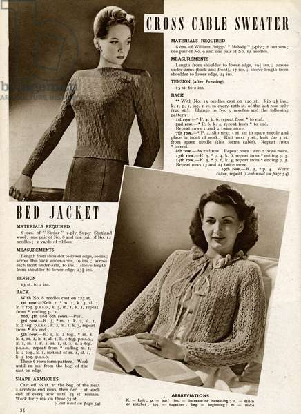 Knitting pattern 1944