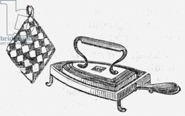 Iron, stand and holder, 1888.