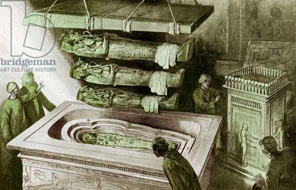 The sarcophagus of Tutankhamun