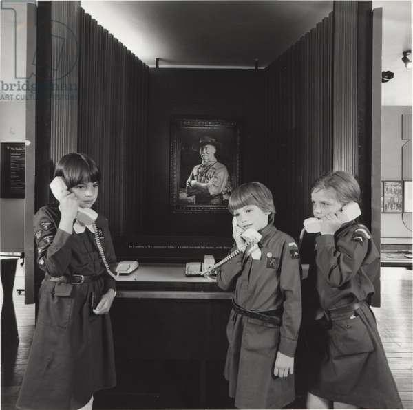 Three Brownies in Baden Powell House, London