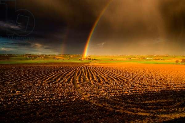 Fields of Battle - Rainbow over Messines Ridge