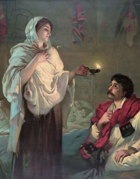 Florence Nightingale in Scutari, Lady with the Lamp