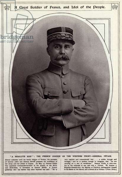 Marshal Philippe Petain in 1917