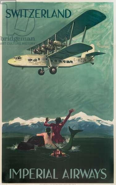 Imperial Airways Poster, Switzerland