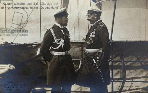 Tsar Nicholas II with Kaiser Wilhelm II