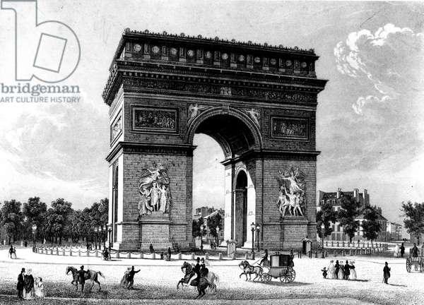 Paris, France - Arc de Triomphe.