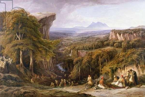 Mount Tomohrit, Albania, by Edward Lear