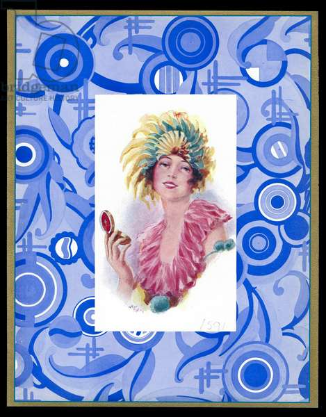 Chocolate box design, lady in fancy dress