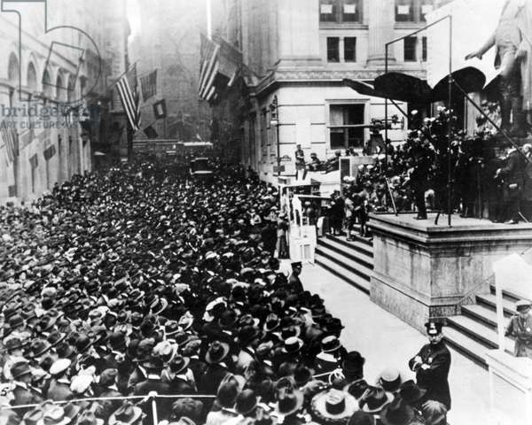 Armistice Day on Wall Street, New York, USA, WW1