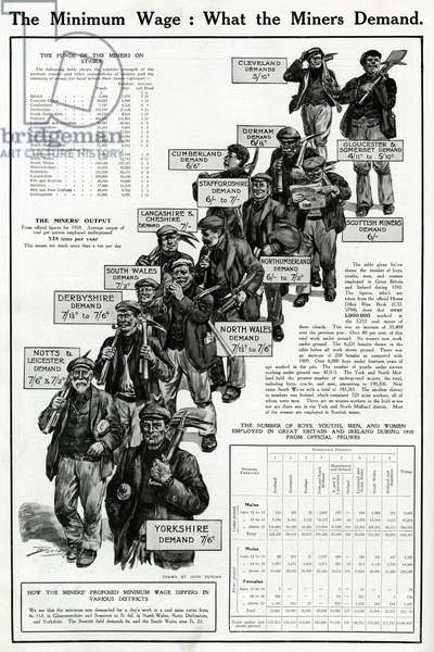 National coal strike - demands of miners 1912