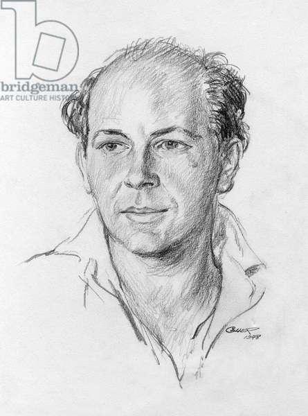 Pencil portrait of the artist David Wright