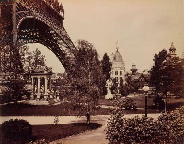 Gas Pavilion, with base of the Eiffel Tower on left, Paris E