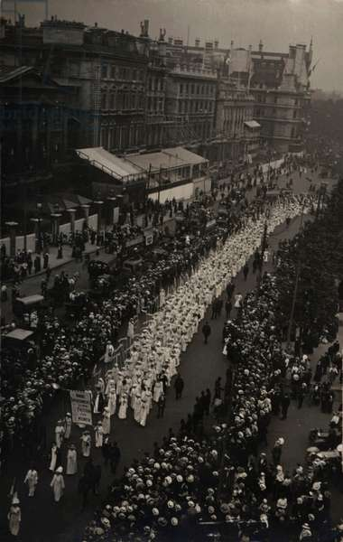Suffragette Women's Coronation Procession June 17, 1911.