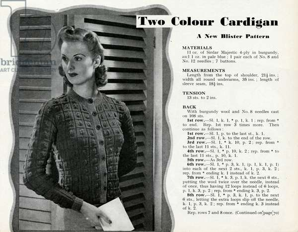 Knitting pattern 1941
