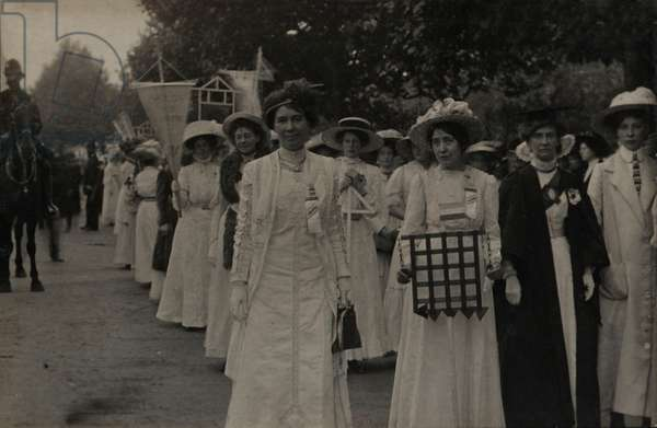Suffragette Demonstration Rally Hyde Park 23 July 1910
