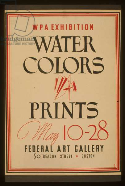 WPA exhibition water colors and prints, Federal Art Gallery