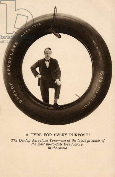 'Wired Type' Dunlop Aeroplane Tyre.