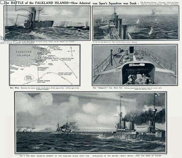 Battle of the Falkland Islands by G. H. Davis